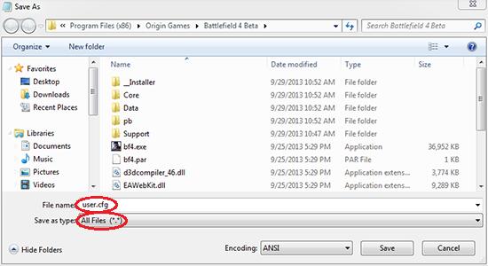 save user.cfg file