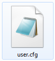 user.cfg file