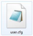 user.cfg file